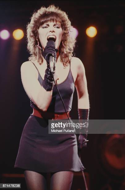 American singer Pat Benatar on stage US 1980