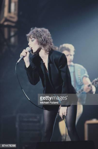 American singer Pat Benatar performs on stage New York 1980