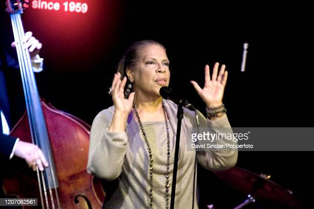 American singer Patti Austin performs live on stage at Ronnie Scott's Jazz Club in Soho London on 10th November 2012