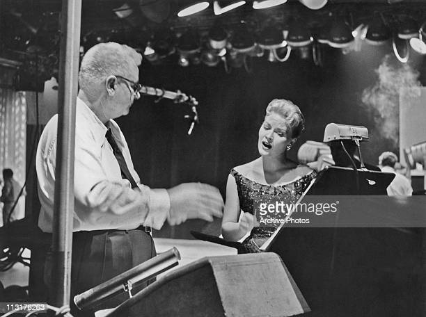 American singer Patti Page during rehearsal in the 1950's