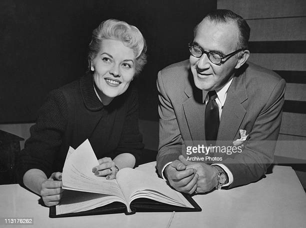 American singer Patti Page with bandleader Benny Goodman in 1950's