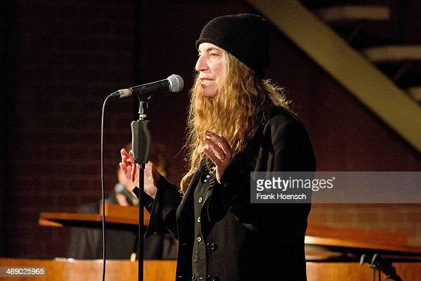 American singer Patti Smith performs live during a concert at the ApostelPaulusKirche on February 12 2014 in Berlin Germany