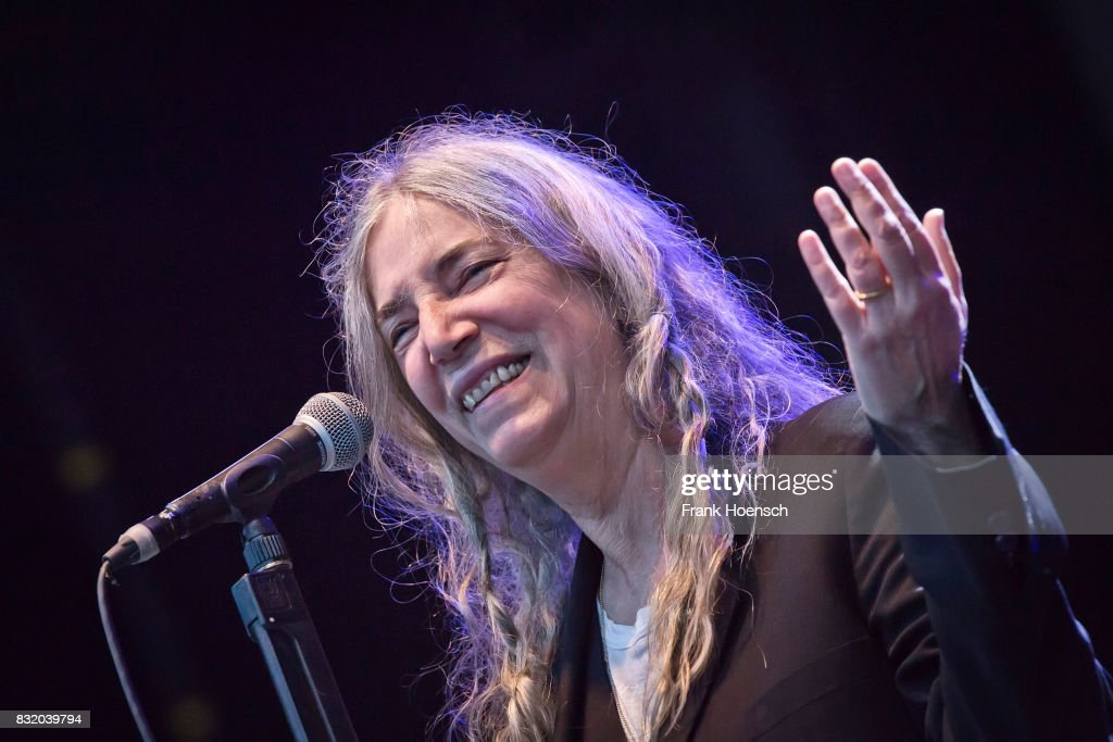 American singer Patti Smith performs live on stage during a concert at the Zitadelle Spandau on August 15, 2017 in Berlin, Germany.