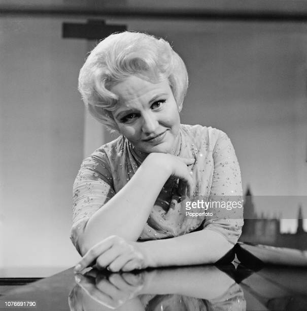 American singer Peggy Lee pictured during the recording of an ABC Television show in England in August 1961