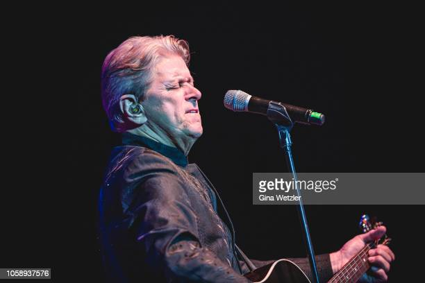 American singer Peter Cetera of from the band Chicago performs on live on stage during a concert at Verti Music Hall on November 7 2018 in Berlin...