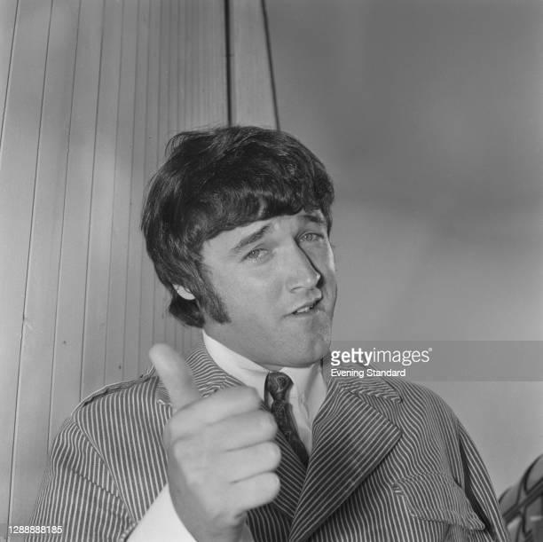 American singer PJ Proby at Heathrow Airport in London, UK, August 1967.