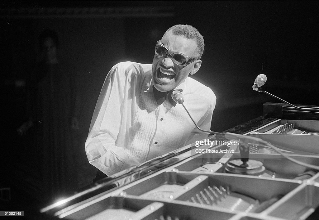 American singer Ray Charles (1930 - 2004) performs in a still from the CBS special 'Barbra Streisand and Other Musical Instruments,' London, England, August 8, 1973.