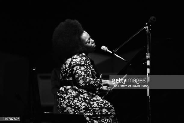 American singer Roberta Flack performing at the Newport Jazz Festival Newport Rhode Island USA 2nd July 1971