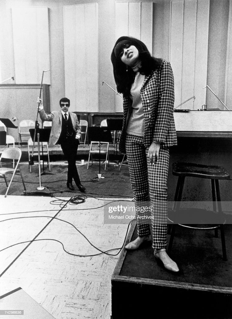 Photo of Phil Spector, Phil Spector, Los Angeles CA, Gold Star Studios. With Veronica Bennett Ronnie Spector. Photo by Michael Ochs Archives/Getty Images