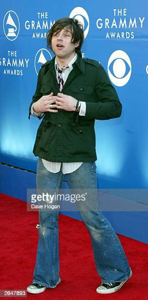 American singer Ryan Adams arrives at the 44th Grammy Awards 2002 on February 27 2002 in Los Angeles United States