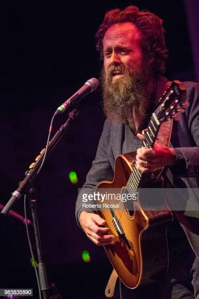 American singer Sam Beam of Iron and Wine performs live on stage at O2 Academy Glasgow on June 25 2018 in Glasgow Scotland