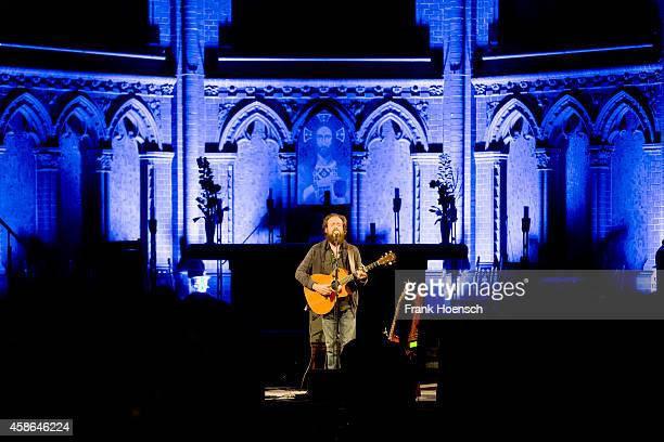 American singer Sam Beam performs live with his project Iron Wine during a concert at the ApostelPaulusKirche on November 8 2014 in Berlin Germany