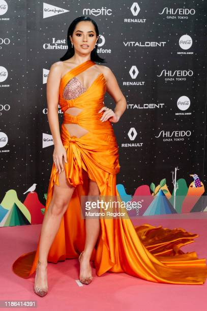 American singer, songwriter and actres Becky G attends 'Los40 music awards 2019' photocall at Wizink Center on November 08, 2019 in Madrid, Spain.