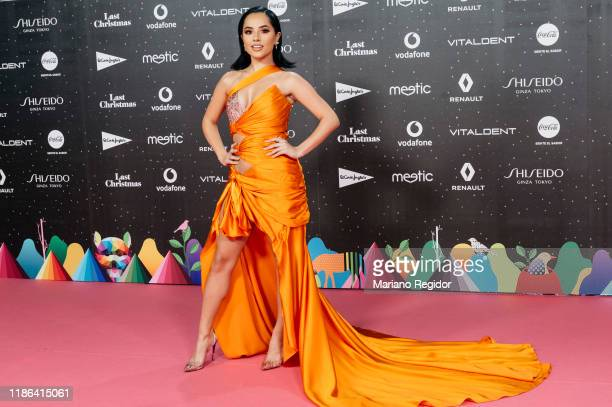 American singer songwriter and actres Becky G attends 'Los40 music awards 2019' photocall at Wizink Center on November 08 2019 in Madrid Spain