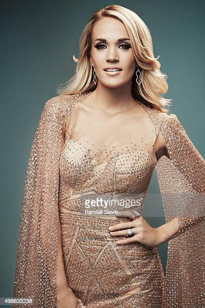 American singer songwriter and actress Carrie Underwood poses for a portrait at the 2015 American Music Awards on November 22 2015 in Los Angeles...