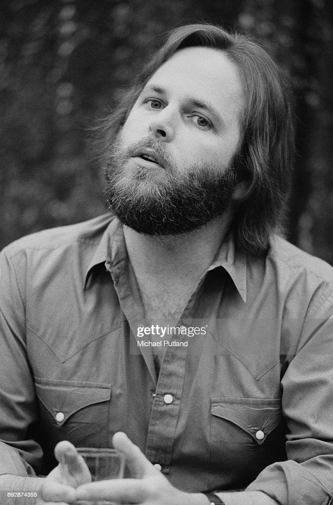 American singer, songwriter and guitarist Carl Wilson (1946 - 1998) of The Beach Boys, Oslo, Norway, 1982.