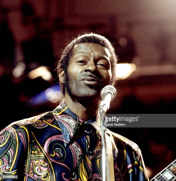 CENTRE Photo of Chuck BERRY Chuck Berry performing on Sounds For Saturday TV show
