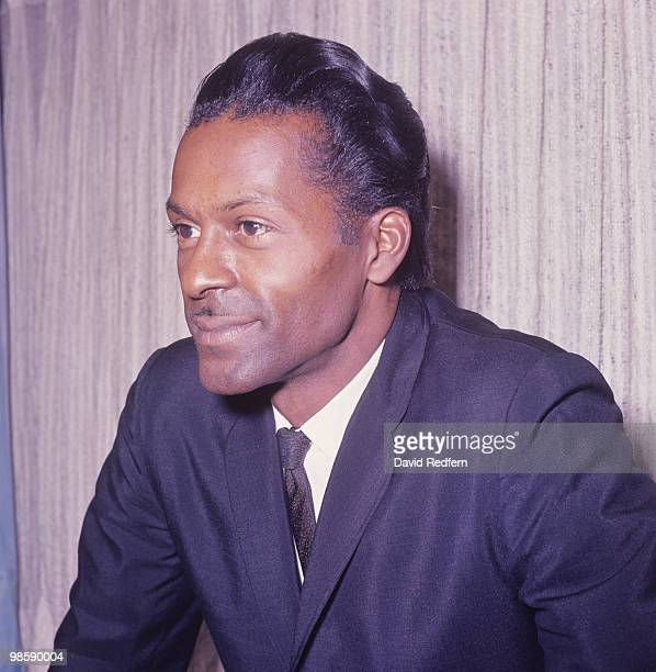 American singer and guitarist Chuck Berry at the EMI offices in London England in 1964