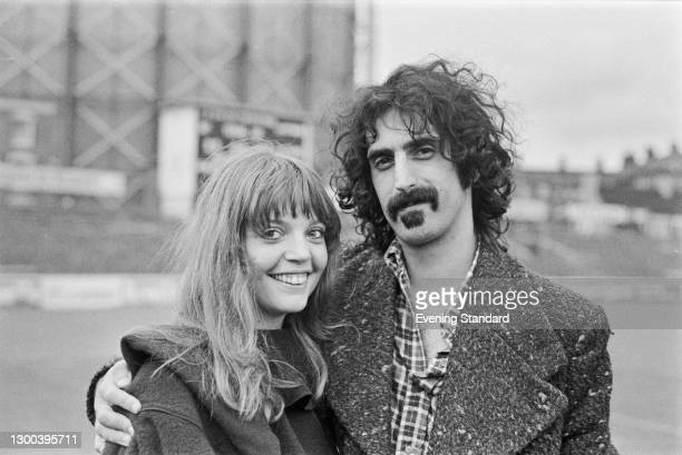 American singer, songwriter and guitarist Frank Zappa at the Oval cricket ground in London to perform in the Rock at the Oval concert, UK, 16th...