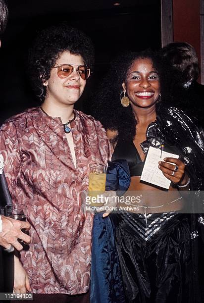 American singer songwriter and guitarist Phoebe Snow and R B singer Chaka Khan attend an event in May 1977 in Los Angeles California
