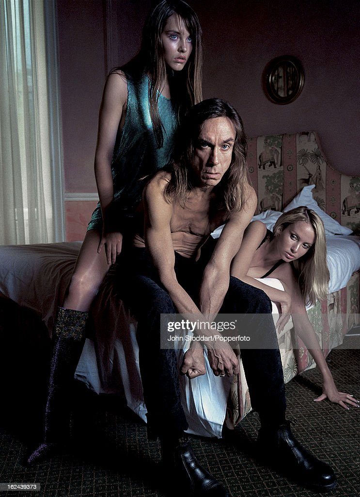 American singer, songwriter and musician Iggy Pop, circa 2000.