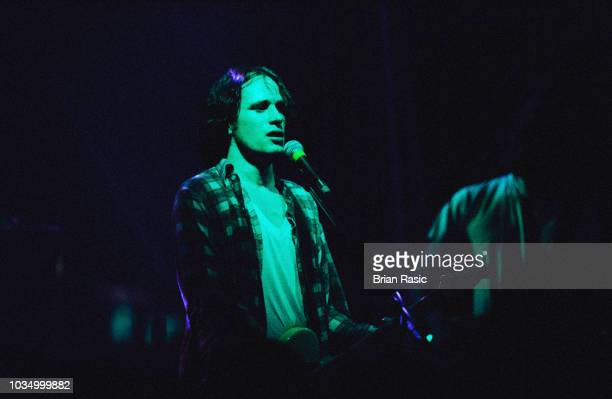 American singer songwriter and musician Jeff Buckley performs live on stage at the Astoria in London on 18th January 1995