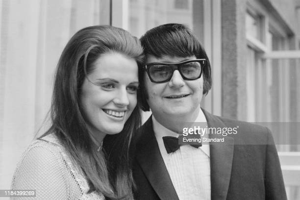 American singer songwriter and musician Roy Orbison with his wife German entrepreneur music producer and publisher Barbara Orbison UK 14th July 1970