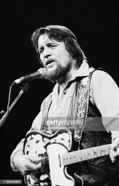 American singer songwriter and musician Waylon Jennings performing live 14th October 1983