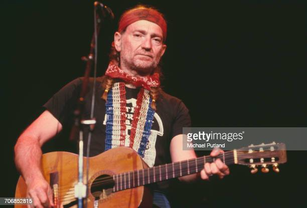 American singer songwriter and musician Willie Nelson performs live on stage in New York in April 1979