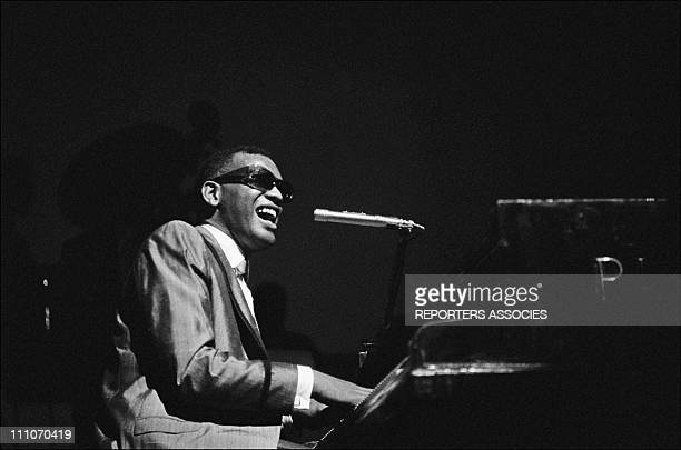 American singer, songwriter and pianist, Ray Charles performing at the Olympia in Paris, France on May 18, 1962.
