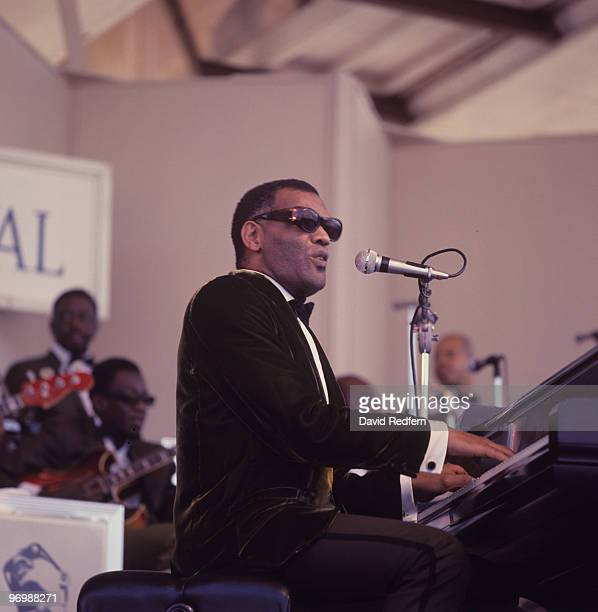 Ray Charles performs on stage at the Newport Jazz Festival held in Newport Rhode Island on July 07 1968