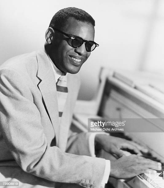 American singer, songwriter and pianist, Ray Charles poses for a portrait, New York City, 1959.