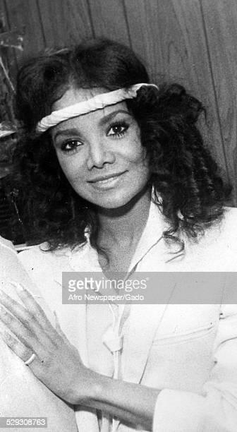 American singer songwriter author television personality and actress La Toya Jackson October 27 Original Caption Reads 'La Toya Jackson '