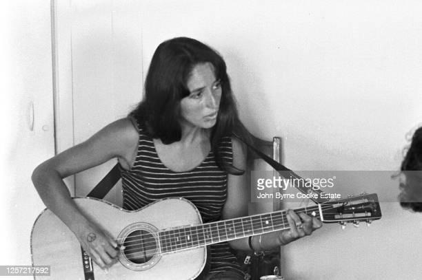 American singer, songwriter, musician and activist Joan Baez, 1966.