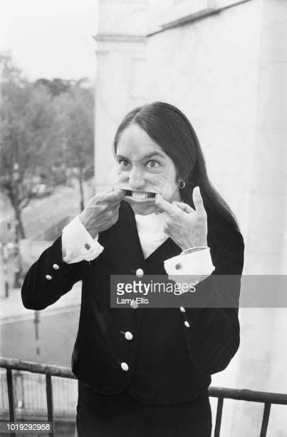 American singer songwriter musician and activist Joan Baez making a funny face UK 27th May 1965