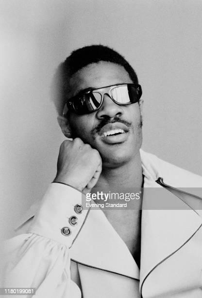 American singer, songwriter, musician and record producer Stevie Wonder, UK, 27th June 1970.