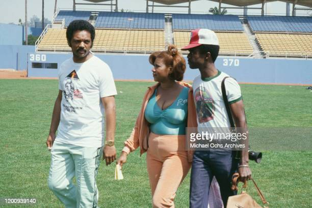American singer songwriter pianist and civil rights activist Aretha Franklin her husband American actor and producer Glynn Turman and American civil...