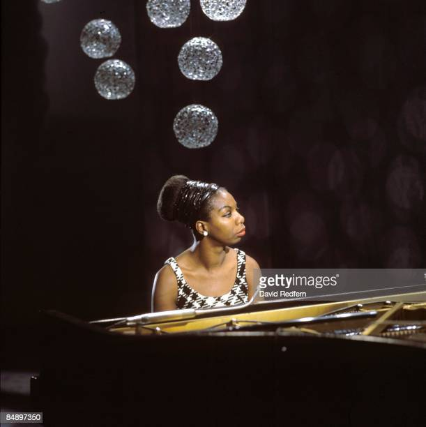 American singer, songwriter, pianist and civil rights activist Nina Simone performs on a television show at BBC Television Centre in London in 1968.