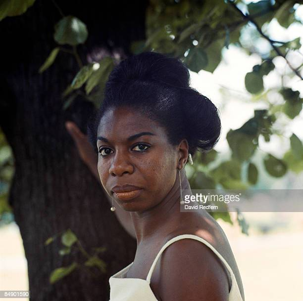 American singer, songwriter, pianist and civil rights activist Nina Simone posed in Hyde Park, London in June 1968.