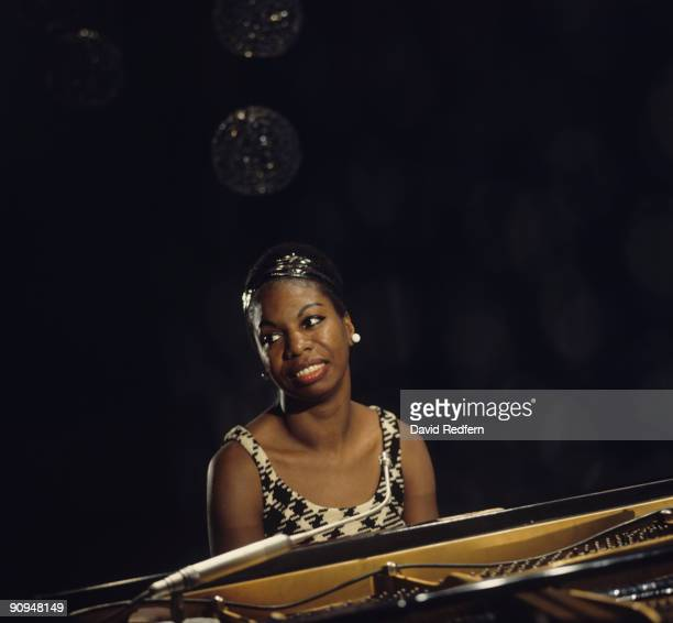 Nina Simone performs on a tv show filmed at BBC Television Centre in London England in 1968