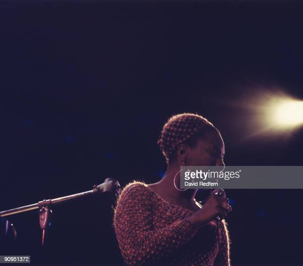 Nina Simone performs on stage at the Newport Jazz Festival held in Newport Rhode Island on July 11 1970