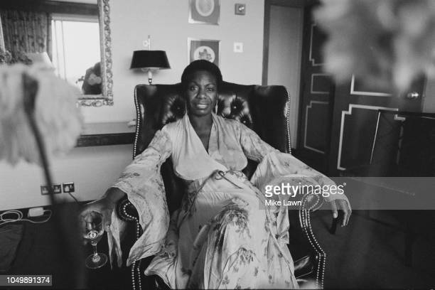 American singer, songwriter, pianist, arranger, and activist Nina Simone , UK, 14th September 1979.