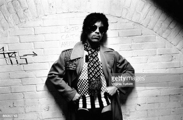 American singer songwriter Prince poses wearing round sunglasses Netherlands 29th May 1981