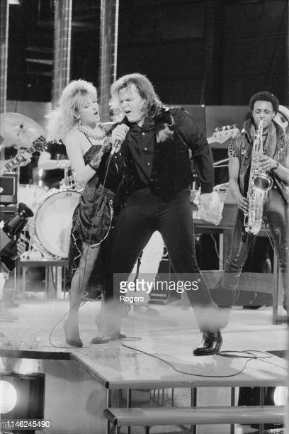 American singer, songwriter, record producer, and actor Meat Loaf performing at the Channel 4 Christmas Show, UK, 12th December 1983.