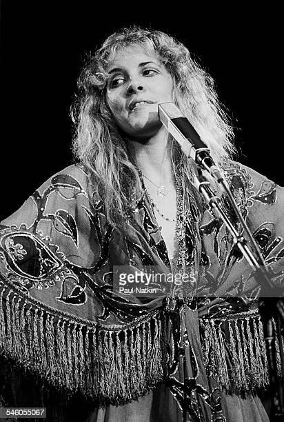 American singer Stevie Nicks of the group Fleetwood Mac performs onstage at the Alpine Valley Music Theater East Troy Wisconsin July 19 1978