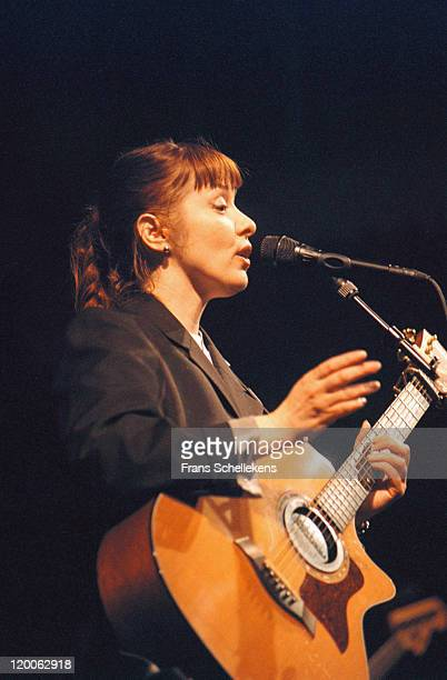 American singer Suzanne Vega performs live on stage at Paradiso in Amsterdam, Netherlands on 6th July 2000.