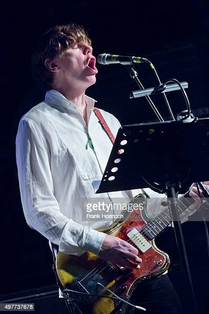 American singer Thurston Moore performs live during a concert at the Postbahnhof on November 18 2015 in Berlin Germany