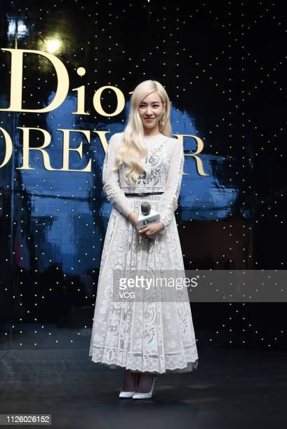 American singer Tiffany Young former member of South Korean girl group Girls' Generation attends a Dior product launch event on January 29 2019 in...