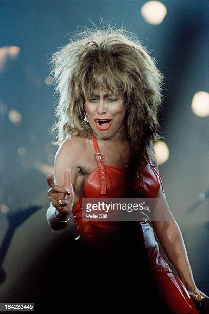 American singer Tina Turner performing at Wembley Arena London during her Break Every Rule Tour 11th June 1987