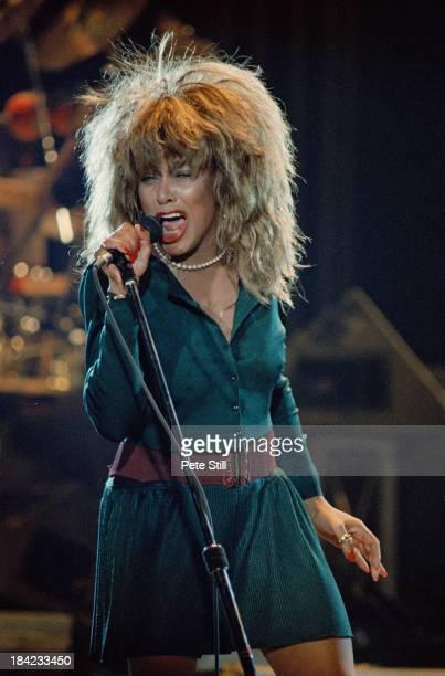 American singer Tina Turner performing at Wembley Arena London during her Break Every Rule Tour 11th June 1987